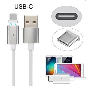 Magnetic USB Type-C Charging Cable for Cell Phones & Tablets etc - White