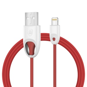 BASEUS Rainbow MFI Lightning 8pin USB Charge Sync Cable (PC Type) - Red