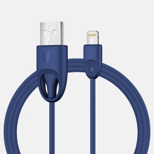 BASEUS Rainbow MFI Lightning 8pin USB Charge Sync Cable (TPU Type) - Dark Blue