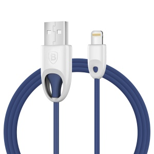 BASEUS Rainbow MFI Lightning 8pin USB Charge Sync Cable (PC Type) - Dark Blue
