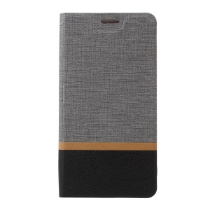 Cross Pattern Leather Stand Case for HTC U Play - Grey