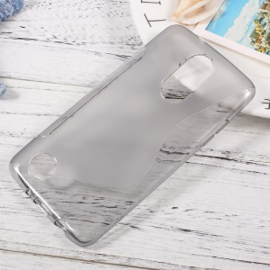 For LG Aristo MS210 / K8 2017 M200N S-Shape TPU Gel Protective Cover - Grey