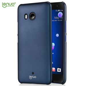 LENUO Leshield Series Silky Touch Hard Plastic Case for HTC U11 - Dark Blue