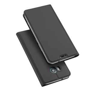 DUX DUCIS Skin Pro Series Card Slot Stand Leather Case for HTC U11 - Grey