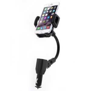Rotatory USB Charger Car Mount Holder for iPhone Samsung HTC, Width: 35-82mm