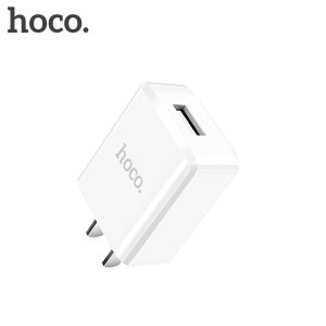 HOCO C27 5V 2A Single USB Port Wall Charger Travel Adapter for iPhone Samsung Huawei - White / CN Plug