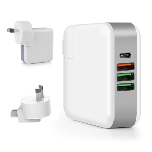 61W Multi-port Quick Charge 3.0 PD Type C Power Delivery Wall Charger - AU Plug