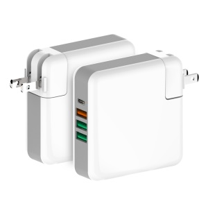 61W Multi-port Quick Charge 3.0 PD Type C Power Delivery Travel Charger - US Plug