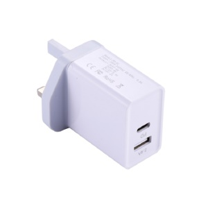 30W PD USB Charger Fast Charger Type C Power Adapter for iPhone 8/8 Plus/X etc. - UK Plug