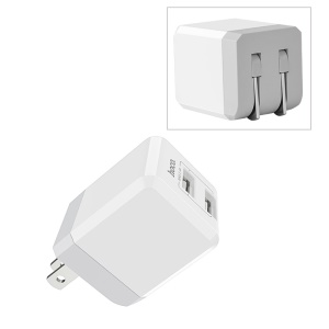HOCO C30 Foldable 2 USB Ports Wall Travel Charger Adapter - US Plug