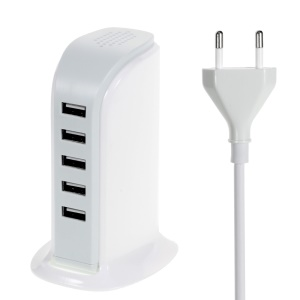 30W 6A 5-Port USB Charging Station for Smartphones Tablets - EU Plug