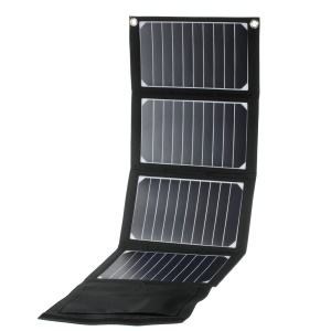 20W High Efficiency 2-USB-Port Solar Power Charger for Smartphones Tablets (SW-H20)