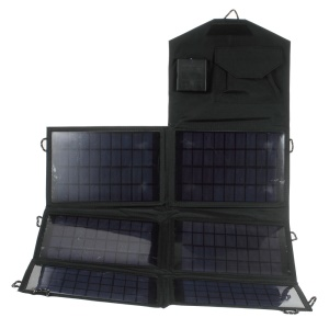21W Monocrystalline Silicon Folding Solar Panel Charger with DC/USB Double Output (SW210)