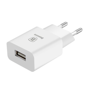 BASEUS Letour 5V 2.1A Portable USB Travel Wall Charger Adapter - EU Plug