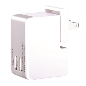 DEVIA Dual USB Wall Travel Charger with US/UK/EU/AU Plugs for Smartphone Tablet