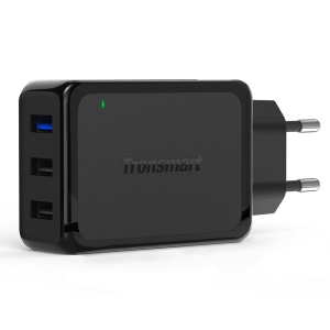 TRONSMART W3PTA 42W 3-Port USB Wall Charger with Quick Charge 3.0 & VoltIQ - EU Plug