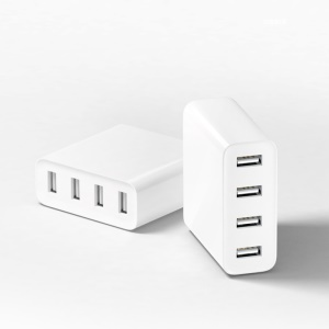 XIAOMI Mini 4-port USB 7A US Plug Travel Charger Support Quick Charge for iPhone iPad Samsung