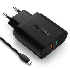 AUKEY Best-selling 2-port Wall Charger with Quick Charge 3.0 (PA-T13) - EU Plug