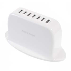 7-Port 9A USB Desktop Home Charger for iPhone iPad Samsung Huawei etc - US Plug