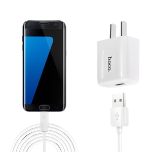HOCO C2 Wall Charger Adapter with Micro USB Cable Kit for Samsung Huawei Sony