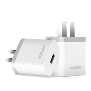 JOYROOM 2A USB Quick Charger Travel Charger Adapter for iPhone Samsung Sony HTC Etc -  White