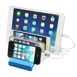 Multi USB Port Charging Dock Stand Docking Station for iPhone Samsung Tablet - Blue / EU Plug