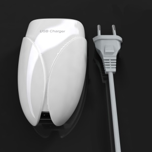 Beetle Design 6-Port USB 7.2A Wall Charger for iPhone iPad Cellphone Tablet - EU Plug