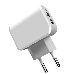 JOYROOM Mini Dual USB Fast Travel Charger for iPhone iPad Samsung (L-M209) - White / EU Plug