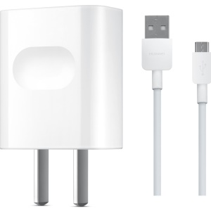 OEM HUAWEI 5V 1A USB Wall Charger Adapter + Micro USB Cable for Huawei Samsung Sony - White / US Plug