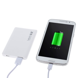 LEYOU LY-320 3000mAh Ultrathin External Power Bank for iPhone Samsung LG HTC - White