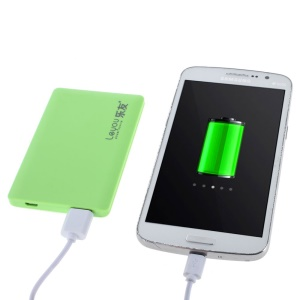 LEYOU LY-320 3000mAh Ultrathin Backup Battery Charger for iPhone Samsung LG HTC - Green