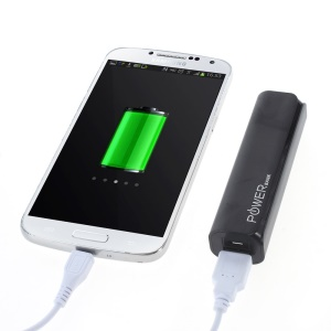 CAG A1 2600mAh Metal Skin Power Bank Battery Charger for iPhone Samsung LG HTC - Black