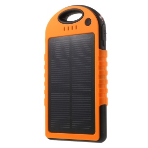YD-T016 12000mAh Solar Charger External Battery Power Bank for iPhone Samsung LG HTC - Orange
