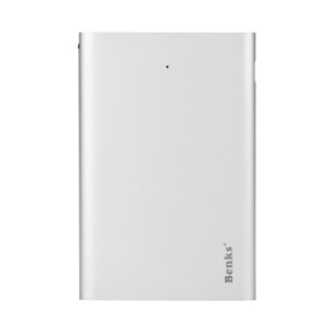 BENKS Blade Ultra-thin 3000mAh Portable Power Bank for iPhone iPad Samsung HTC Sony Android Smartphone Tablets - Silver