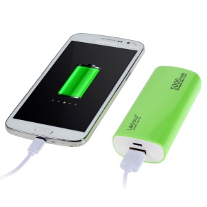LEYOU LE-230 5000mAh External Power Bank for iPhone Samsung LG HTC - Green