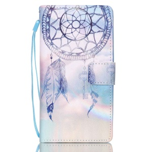 Leather Wallet Stand Phone Shell for Huawei Ascend P8 Lite - Dream Catcher