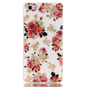 IMD TPU Phone Case Cover for Huawei Ascend P8 Lite - Blooming Flowers