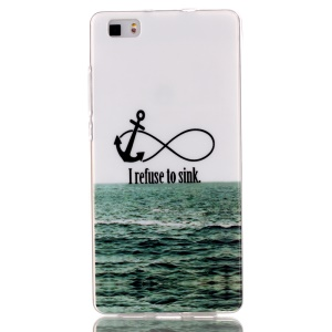 IMD TPU Phone Case Cover for Huawei Ascend P8 Lite - Anchor and Quote