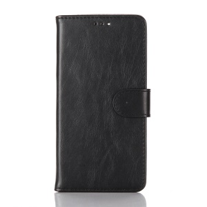 Crazy Horse Retro Flip Wallet Leather Case for Huawei Nexus 6P with Stand - Black