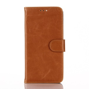 Crazy Horse Retro Wallet Stand Leather Phone Case for Huawei Nexus 6P - Brown
