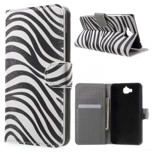Wallet Leather Stand Cover for Huawei Enjoy 5 / Honor Play 5X - Zebra Stripes
