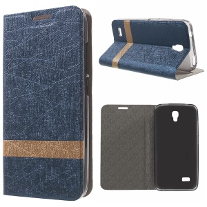 Lines Textured Leather Stand Cover for Huawei Y5 Y560 - Baby Blue