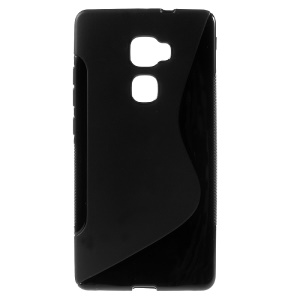 S-curve Line Soft TPU Gel Case for Huawei Mate S - Black