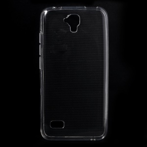 Slim Glossy Gel TPU Cover Case for Huawei Y5 Y560 with Non-slip Inner - Transparent