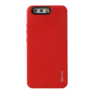ROAR KOREA RICO Matte Hybrid 2-fra-1 pc + TPU Back Mobile Shell per Huawei P10 Plus - Rosso