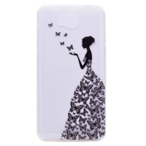 Pattern Printing TPU Phone Case for Huawei Y5 (2017) - Butterfly and Beauty