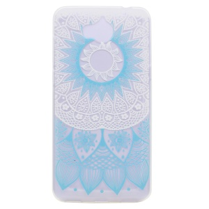 Pattern Printing TPU Back Case for Huawei Y5 (2017) - Blue Flower