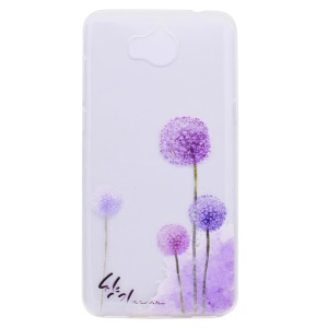 Pattern Printing TPU Gel Case for Huawei Y5 (2017) - Dandelion Pattern