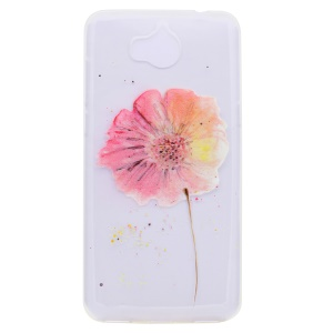 Pattern Printing TPU Cover Shell for Huawei Y5 (2017) - Vivid Flower