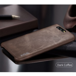 X-LEVEL Vintage Series Hard Phone Shell for Huawei Honor 9 (PU Leather + PC) - Coffee